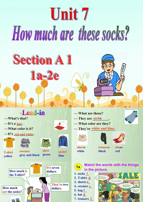 《Unit 7 How much are these socks?》单元课件(公开课).ppt