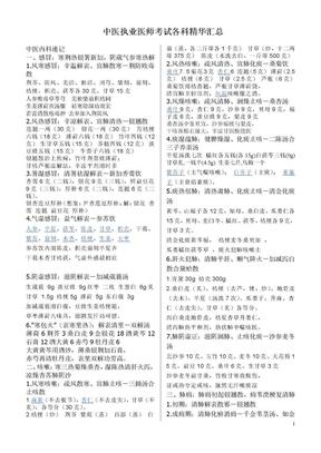 中医执业医师考试各科精华汇总.doc