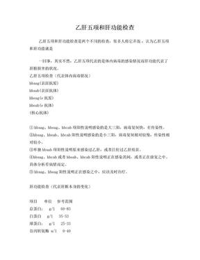 乙肝五项和肝功能检查doc.doc
