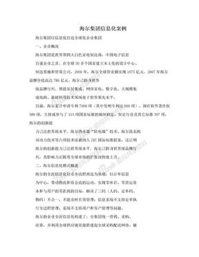 海尔集团信息化案例.doc