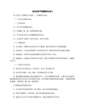 初三化学下学期教学计划2.docx