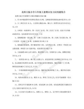 北师大版小学六年级上册期末复习应用题集合.doc