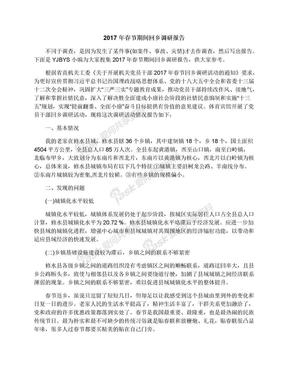 2017年春节期间回乡调研报告.docx