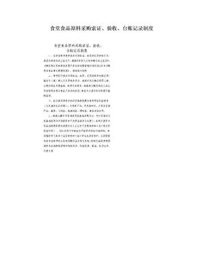 食堂食品原料采购索证、验收、台账记录制度.doc