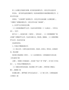 外国文学史复习资料.doc