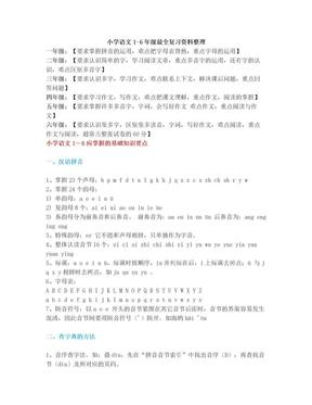 小升初语文复习资料:小学语文1-6年级最全复习资料整理!.doc