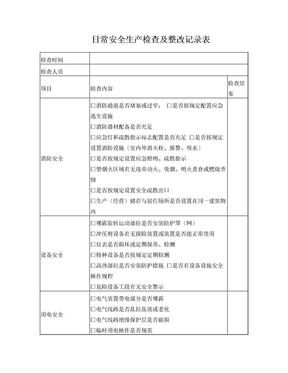 公司企业日常安全生产检查记录表.doc