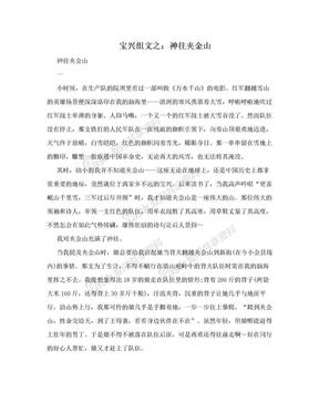 宝兴组文之:神往夹金山.doc