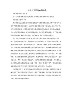 特殊教育培训心得体会.doc