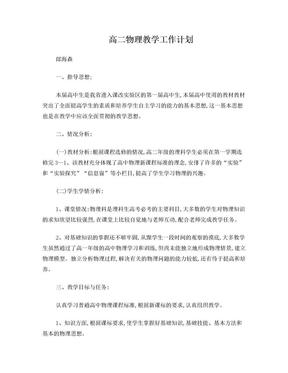 高二物理教学工作计划.doc
