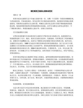 银行新员工培训心得体会范文.docx