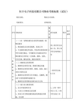 物业考核标准0925.doc