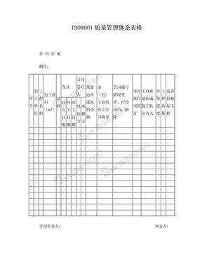 ISO9001质量管理体系表格2016版.doc