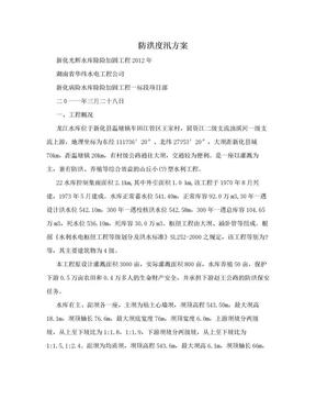 防洪度汛方案.doc