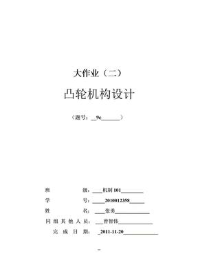凸轮机构大作业勇).doc