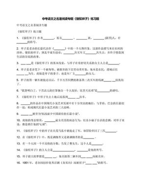 中考语文之名著阅读专题《骆驼祥子》练习题.docx