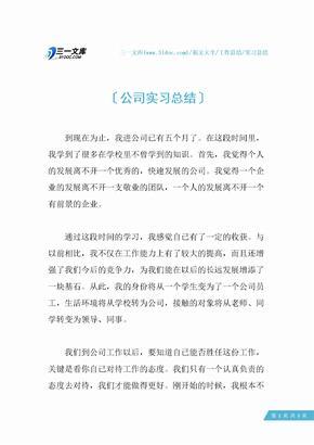 【实习总结】公司实习总结.docx
