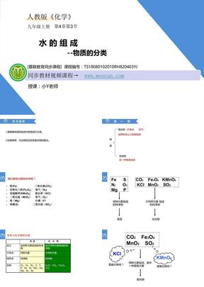 人教版化学九年级上第四章4.3.2 水的组成--物质的分类.ppt