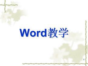 (新版)word教学课件08(免费).ppt