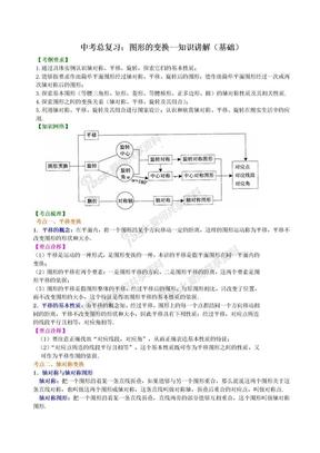 初中数学中考总复习:图形的变换--知识讲解(基础).doc
