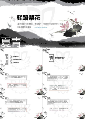 部编版语文七年级下第四单元4.14.2驿路梨花.pptx