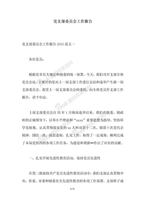 2018年党支部委员会工作报告推荐.docx