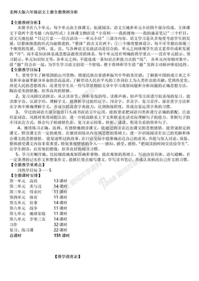 北师大版6年级语文上册全册课时安排.doc