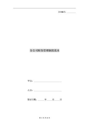 分公司财务管理制度范本.doc
