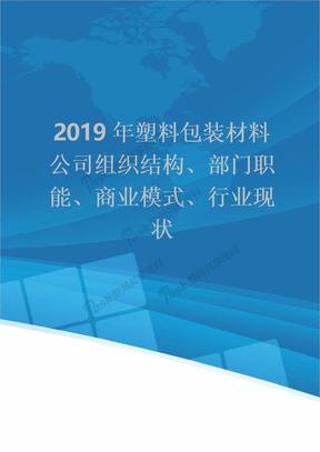 2019年塑料包装材料公司组织结构、部门职能、商业模式、行业现状.doc