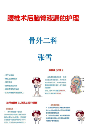 腰椎术后脑脊液漏护理.ppt.ppt