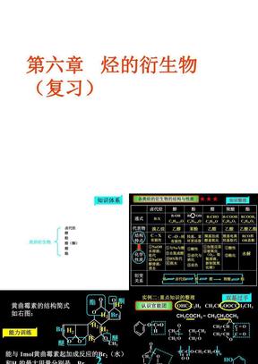 高三《烃的衍生物》(高考复习用)(修改版).ppt