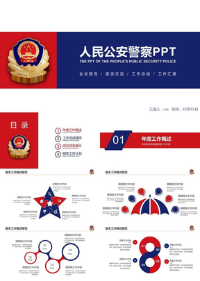 中国人民公安警察案件汇报PPT模板.pptx