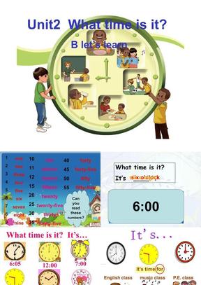 2014新版PEP小学英语四年级下册Unit2_what_time_is_it_B_Let's_learn.ppt