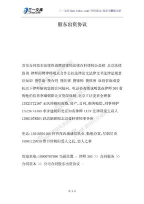 股东出资协议.docx