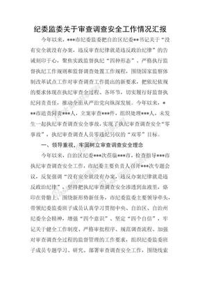 市纪委监委关于审查调查安全工作情况汇报.docx