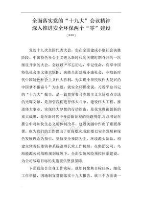 十九大安全环保研讨材料word文档.doc