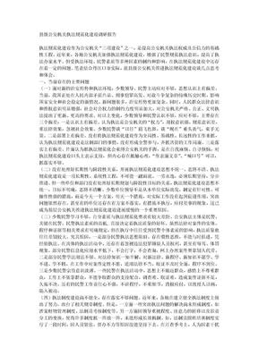 县级公安机关执法规范化建设调研报告.doc