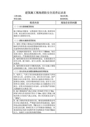 建筑施工现场消防安全巡查记录表.doc