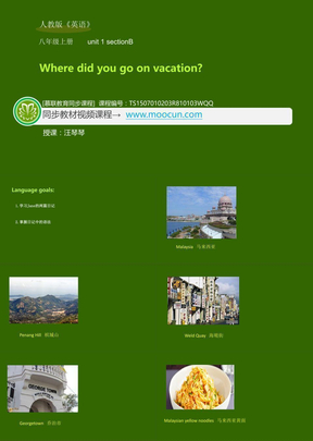 人教版英语八年级上Unit1_1.3section B_Where did you go on vocation.ppt