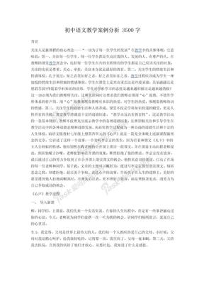 初中语文教学案例分析.doc