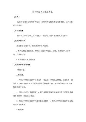 公司制度执行推进方案.doc