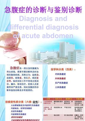 急腹症的诊断与鉴别诊断医学PPT课件.ppt