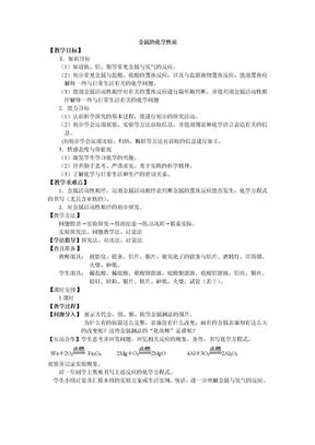 初中化学_金属的化学性质.doc
