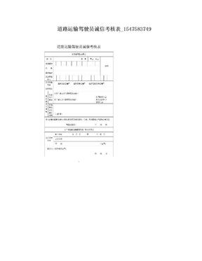 道路运输驾驶员诚信考核表_1547583749.doc