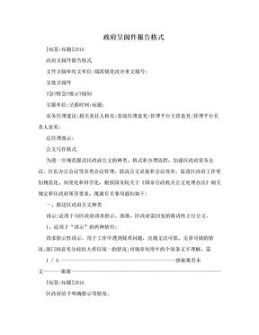 政府呈阅件报告格式.doc