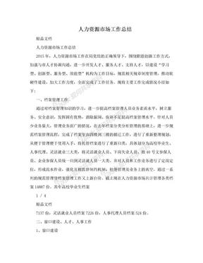 人力资源市场工作总结.doc
