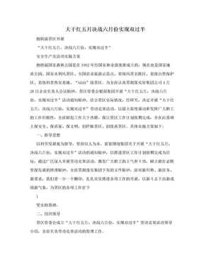 大干红五月决战六月份实现双过半.doc