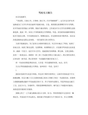 驾校实习报告.doc