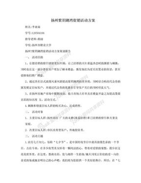 扬州紫玥湖湾促销活动方案.doc