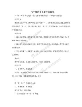六年级语文下册作文教案.doc